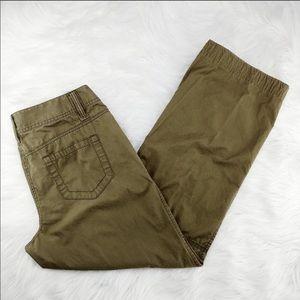 💙💙Loft olive green wide leg utility pants
